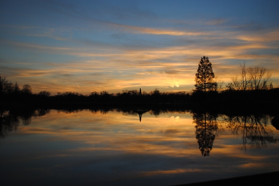 Reflection on Sunset at East Lake Park 12062012