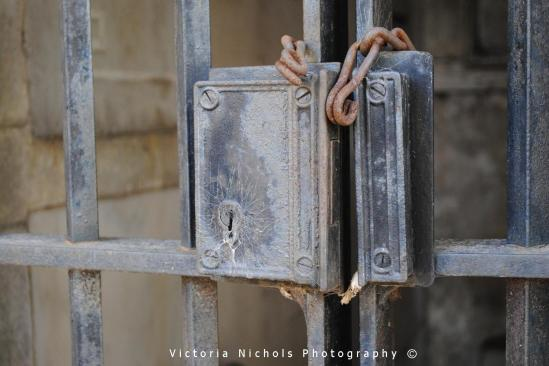 Missing Mausoleum Door Padlock
